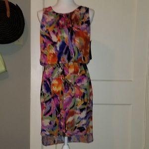 Tiana b sleeveless pullover floral print dress